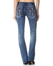 Miss Me Women's Indigo Cross Pocket Jeans - Boot Cut , , hi-res