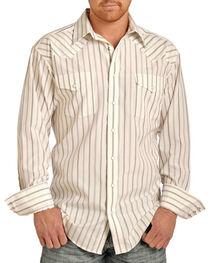 Panhandle Men's Striped Western Long Sleeve Shirt, , hi-res