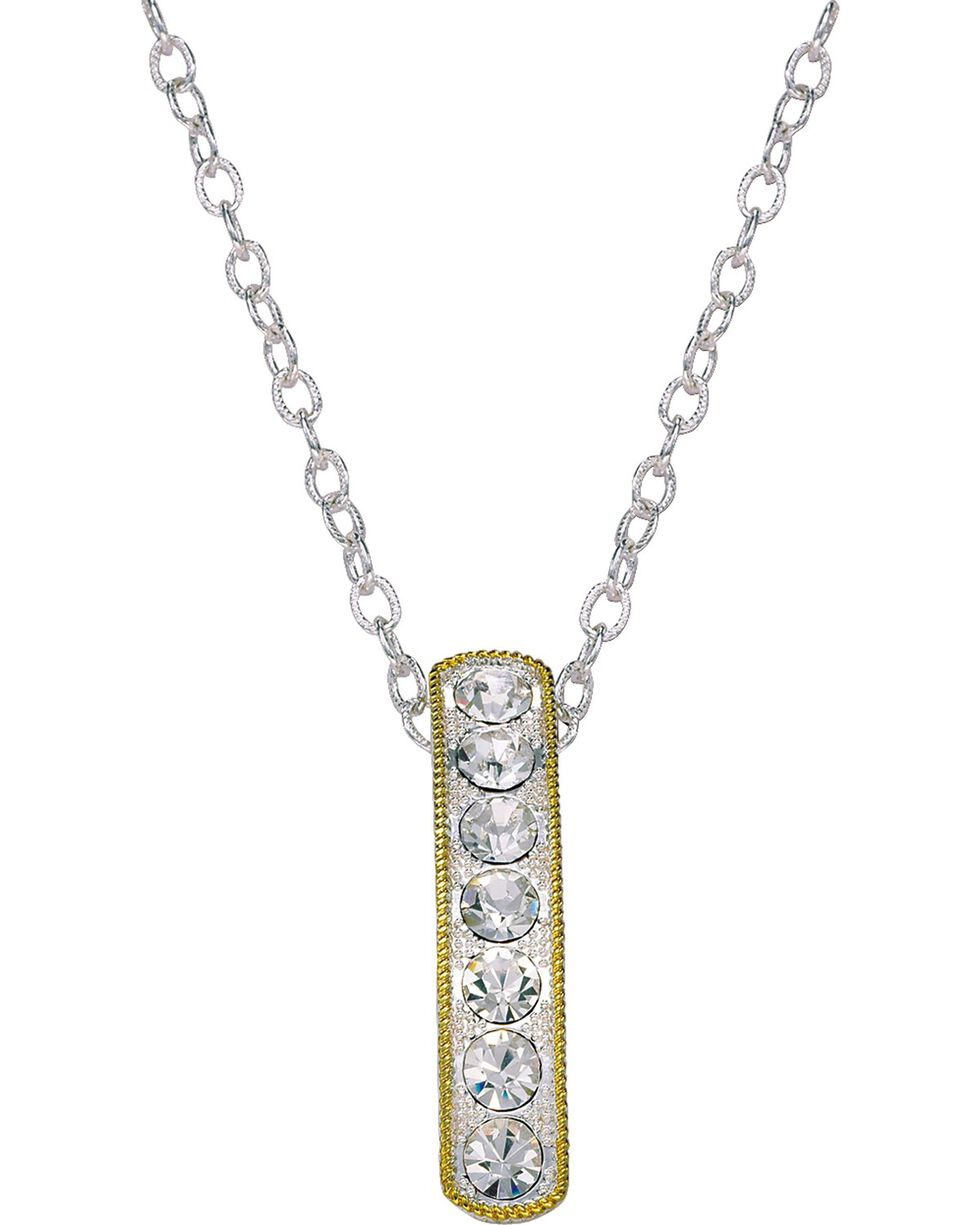 Montana Silversmiths Crystal Shine Hanging Bar Necklace, Silver, hi-res