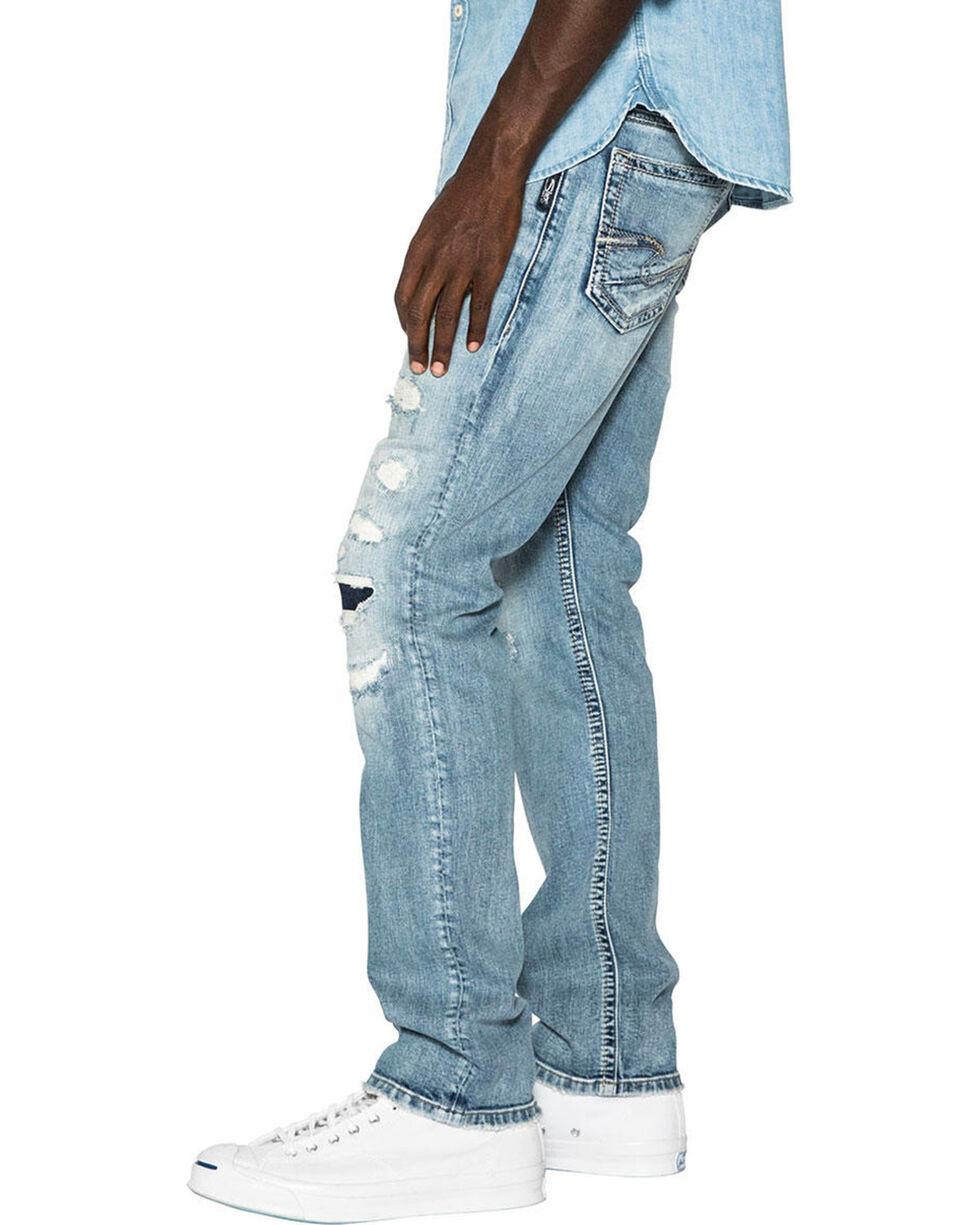 Silver Men's Konrad Slim Fit Straight Leg Jeans, Indigo, hi-res