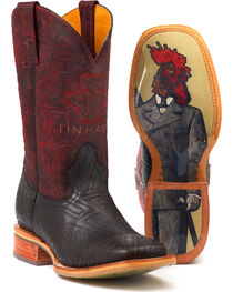 Tin Haul Men's Chick Magnet Rule the Roost Sole Cowboy Boots - Square Toe, , hi-res