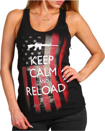 Brothers & Arms Women's Keep Calm and Reload Tank, , hi-res