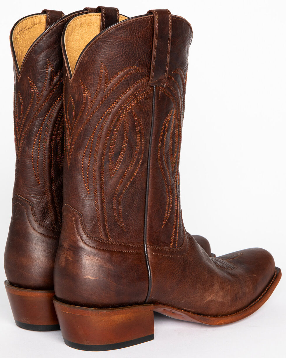 Cody James® Men's Embroidered Broad Square Western Boots, Chocolate, hi-res
