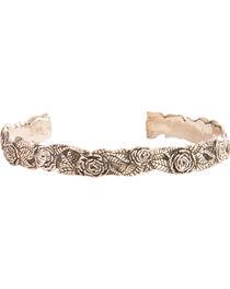 Silver Legends Women's Diamond Cut Rose Bracelet , , hi-res