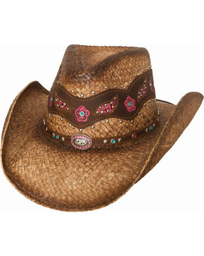 Bullhide Women's All In My Head Straw Hat, Natural, hi-res