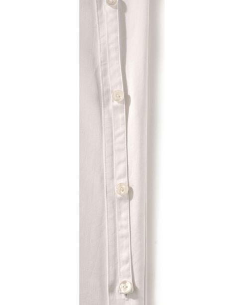 Cumberland Outfitters Men's Tunic Long Sleeeve Western Shirt, White, hi-res