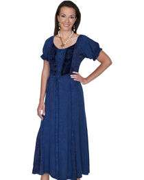Scully Women't Velvet Lace-Front Dress, , hi-res