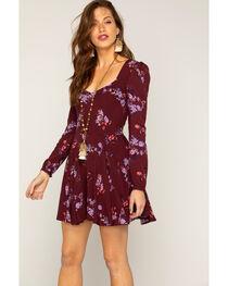 Shyanne® Women's Floral Long Sleeve Dress, , hi-res