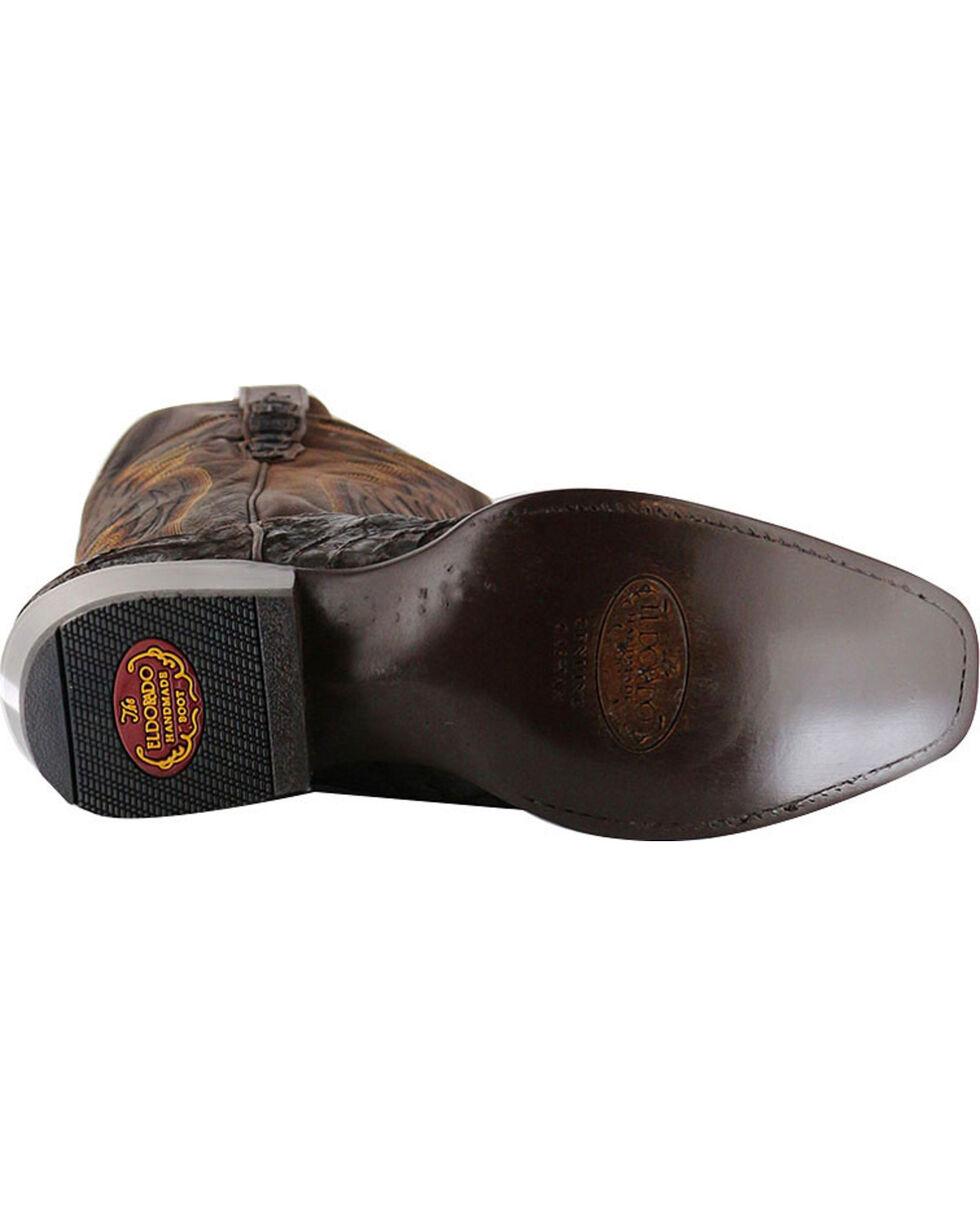 El Dorado Men's Caiman Square Toe Western Boots, Chocolate, hi-res