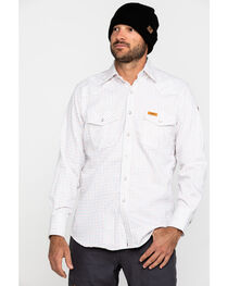 Wrangler Men's Western FR Long Sleeve Plaid Snap Shirt - Tall, , hi-res