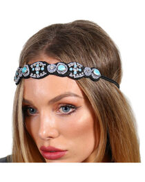 Shyanne® Women's Turquoise Beaded Headband, , hi-res