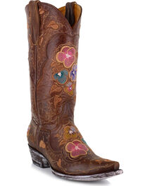 Old Gringo Women's Pansy Brass Western Boots, , hi-res