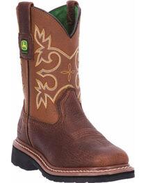 John Deere® Kid's Broad Square Toe Western Boots, , hi-res