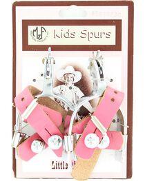 Little Outlaw Girls' Pink Spurs, , hi-res