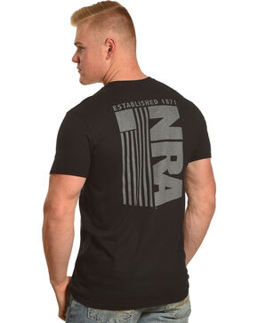 NRA Men's Black Tactical Flag Tee, Black, hi-res