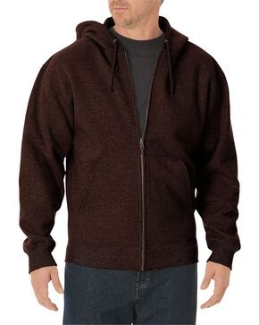 Dickies Midweight Fleece Zip-Up Hooded Work Jacket, Brown, hi-res