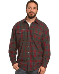 Powder River Outfitters Men's Red Plaid Snap Front Shirt , , hi-res