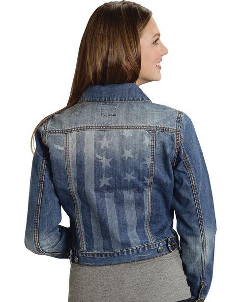 Roper Women's Americana Denim Jacket, Denim, hi-res