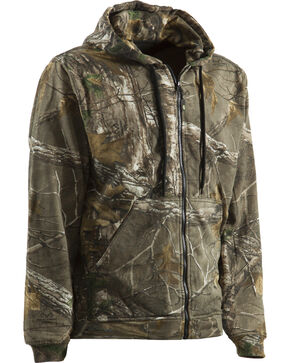 Berne Camouflage All Season Hooded Thermal Lined Sweatshirt - 5XL and 6XL, Camouflage, hi-res
