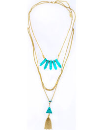 Sincerely Mary Women's Layered Turquoise Stone Necklace, , hi-res