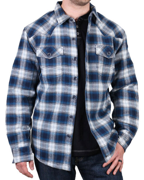 Cody James® Men's Shasta Plaid Long Sleeve Flannel, Blue, hi-res