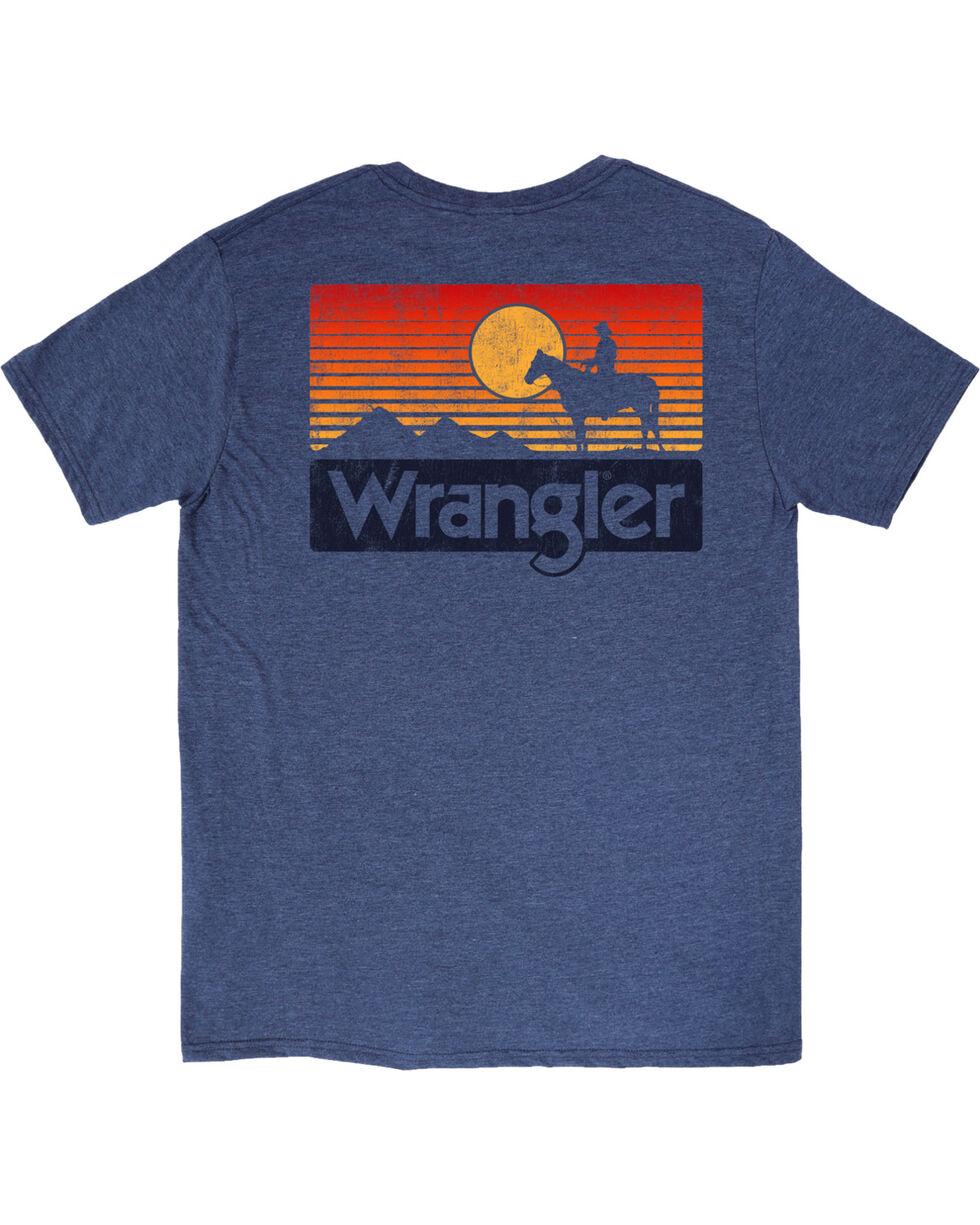 Wrangler Men's Heather Blue Sunset Horse Tee , , hi-res