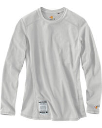 Carhartt Women's Flame Resistant Force Long Sleeve Top, , hi-res