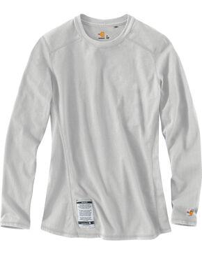 Carhartt Women's Flame Resistant Force Long Sleeve Top, Lt Grey, hi-res