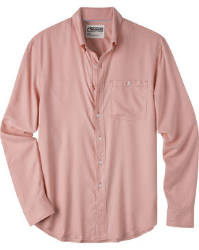 Mountain Khakis Men's Passport EC Long Sleeve Shirt, Red, hi-res