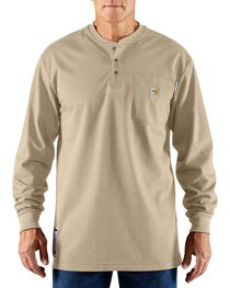 Carhartt Men's Long Sleeve Flame Resistant Force Henley, , hi-res