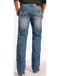 Rock & Roll Cowboy Men's Faded Double Barrel Straight Leg Jeans, , hi-res
