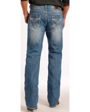 Rock & Roll Cowboy Men's Faded Double Barrel Straight Leg Jeans, Denim, hi-res