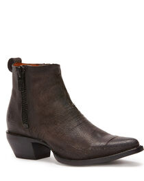 Frye Women's Charcoal Sacha Moto Shortie Booties - Pointed Toe , , hi-res