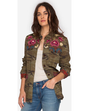 Johnny Was Women's Camo Rialto Military Jacket , Camouflage, hi-res