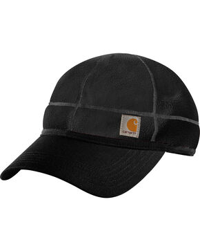 Carhartt Workwear Griggs Fleece Visor Cap, Black, hi-res