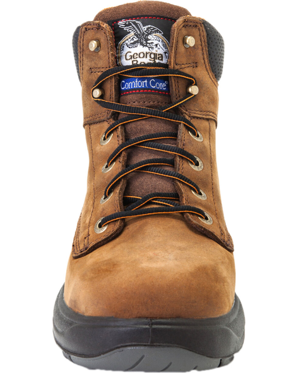Georgia Men's Lace Up FLXpoint Waterproof Work Boots, Brown, hi-res