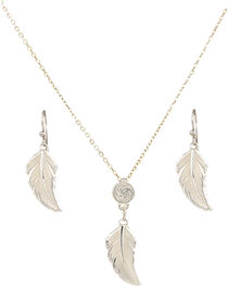 Montana Silversmiths No Dream Too Small Feather Jewelry Set, , hi-res