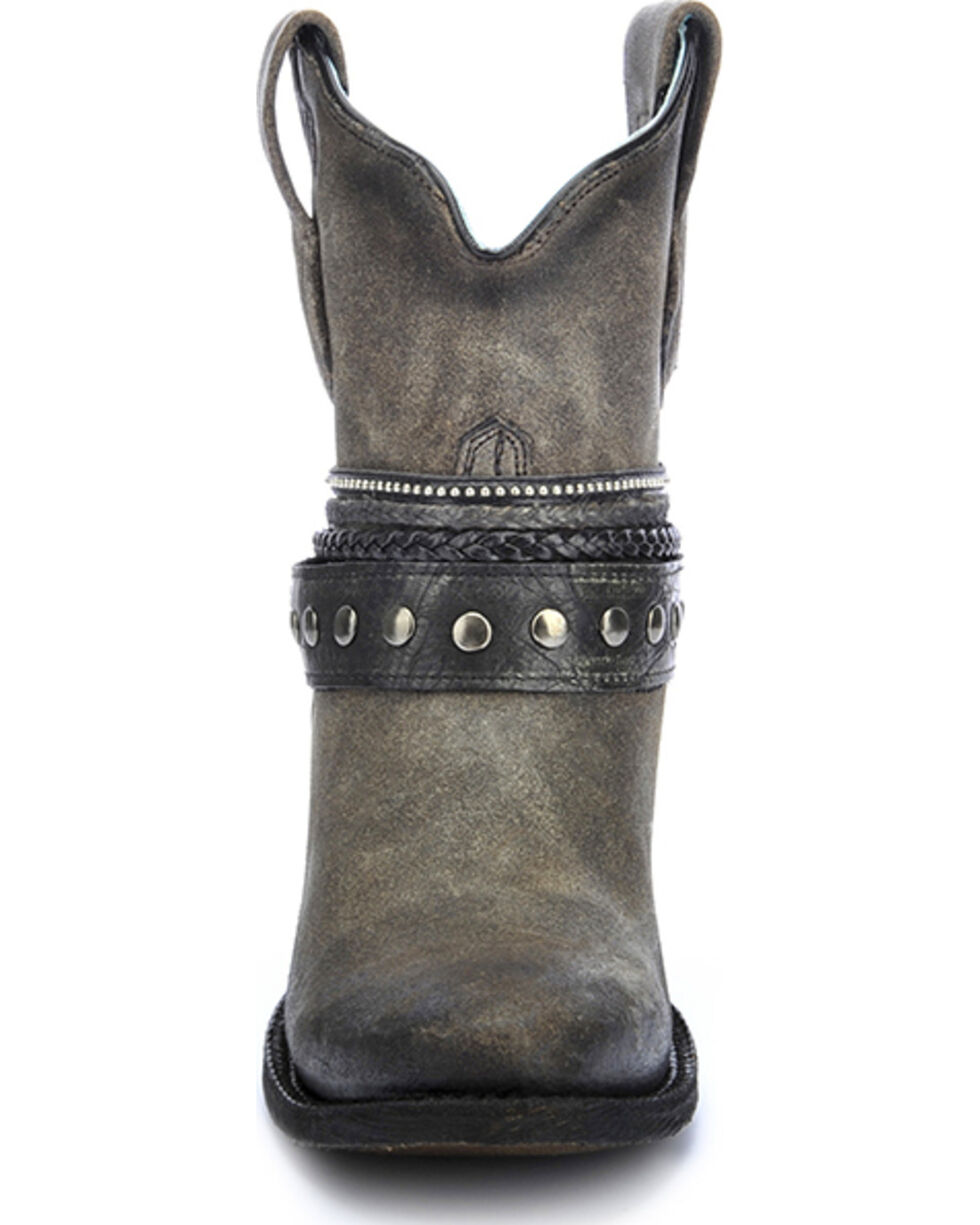Corral Women's Studded Strap Western Booties, Black, hi-res