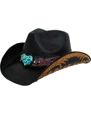 Peter Grimm Women's Black Salona Cowgirl Hat , Black, hi-res