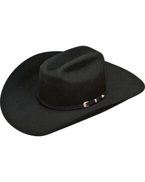 Ariat Men's Wool 2X Cowboy Hat , Black, hi-res