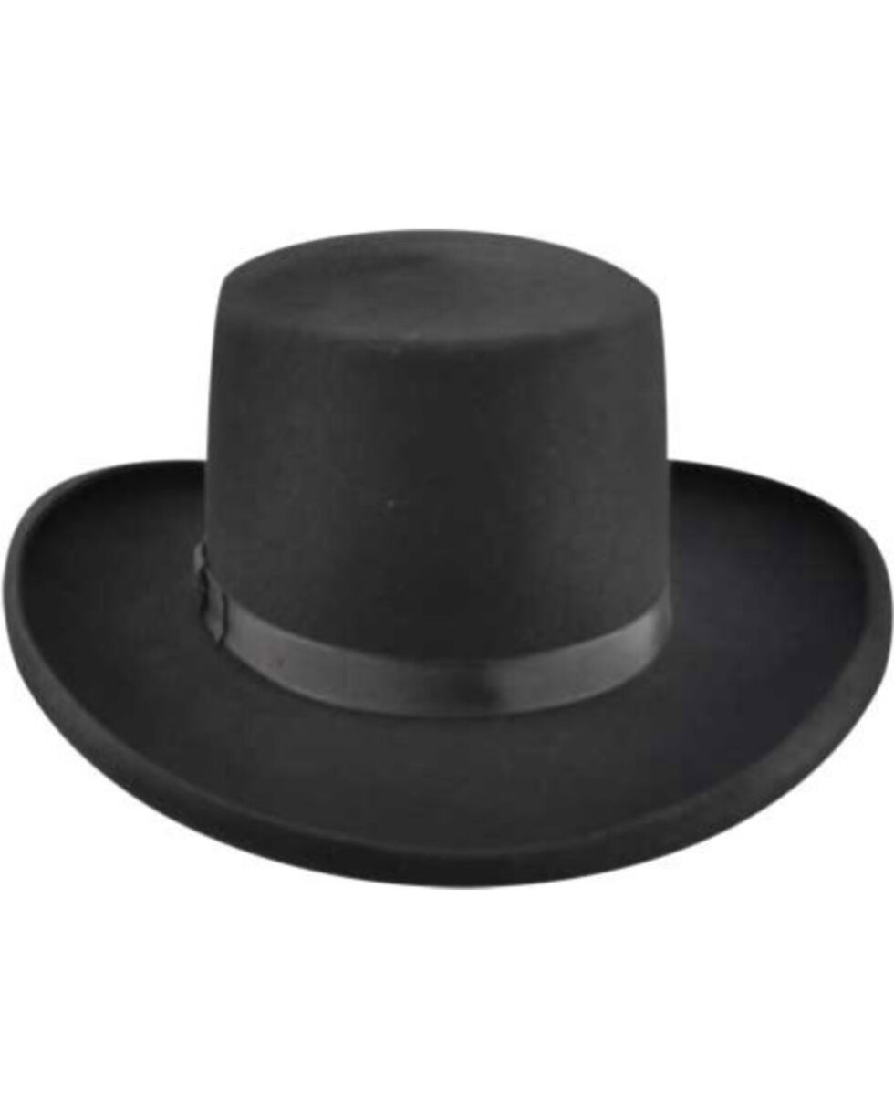 Bailey Western Dillinger Flat Top Hat, Black, hi-res
