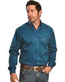 Ariat Men's Solid Twill Western Shirt, , hi-res