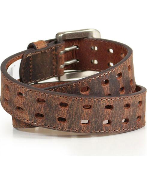 Cody James® Boy's Crackle Leather Belt, Brown, hi-res