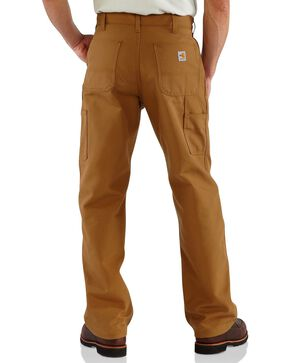 Carhartt Flame Resistant Duck Work Dungaree Pants, Brown, hi-res