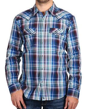 Cody James Men's Plaid Long Sleeve Shirt, Blue, hi-res