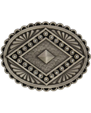 Rock 47 by Wrangler Antique Silver Concho Buckle, Antique Silver, hi-res