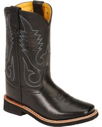Smoky Mountain Child's Black Western Boots - Square Toe, , hi-res