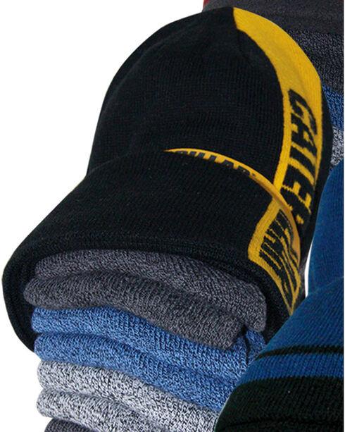 CAT Men's 6 Pack of Work Socks and Beanie, Multi, hi-res