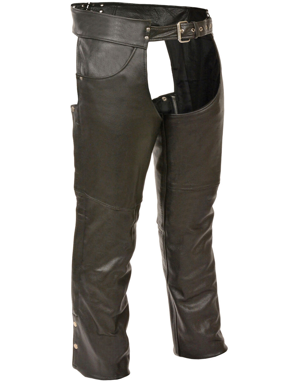 Milwaukee Leather Men's Classic Chap With Jean Pockets - 5X, Black, hi-res