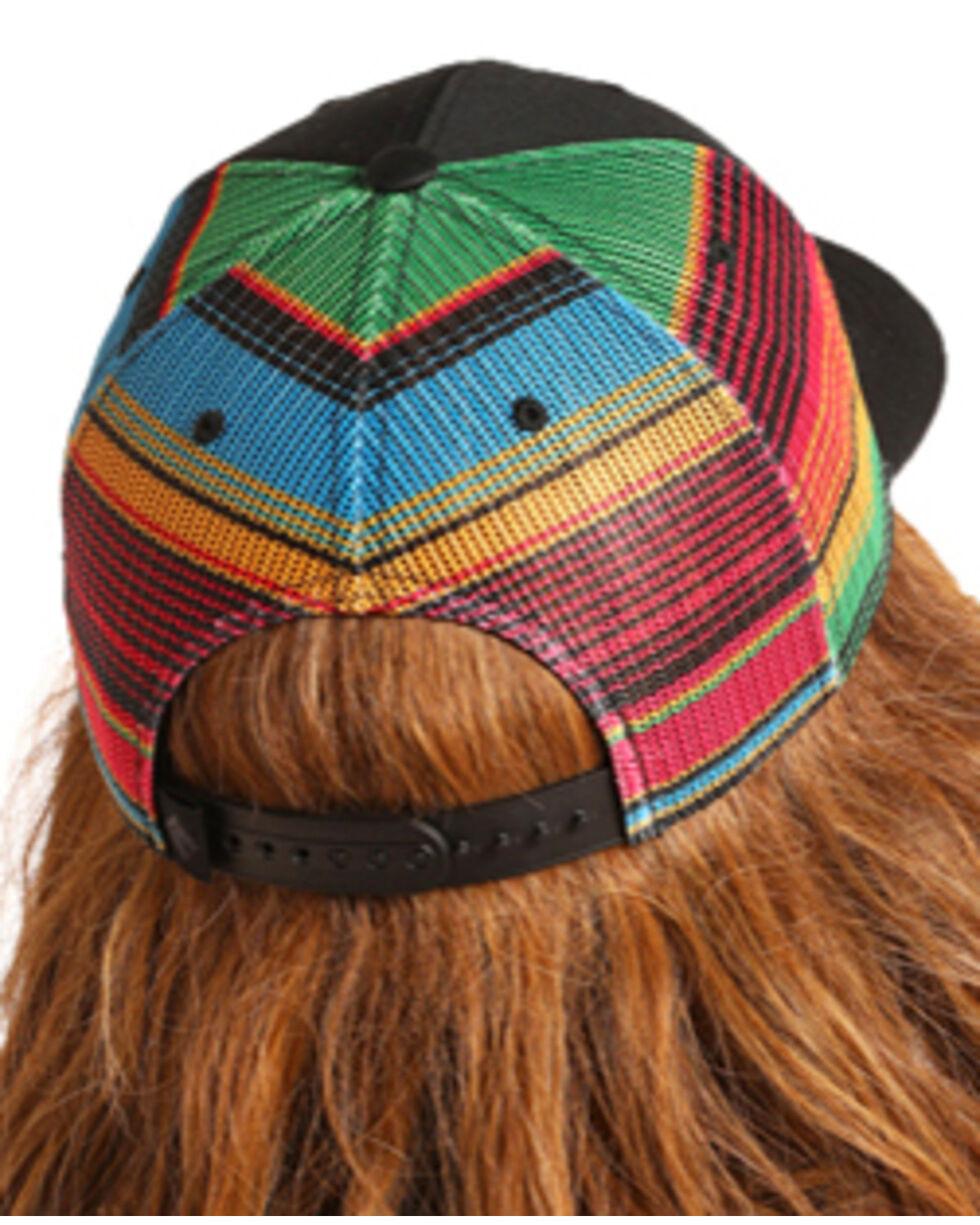 Dale Brisby Men's Serape Retro Trucker Hat, Black, hi-res